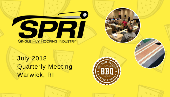 SPRI July 2018 Meetings – A packed schedule and a packed room